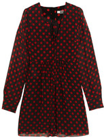 McQ by Alexander McQueen Polka-Dot Chiffon Mini Dress