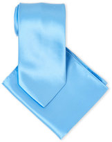 Pierre Cardin Solid Tie & Pocket Square Set