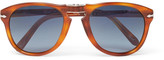 Persol Steve Mcqueen Folding D-frame Tortoiseshell Acetate Polarised Sunglasses - Tan