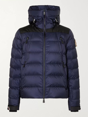 MONCLER GRENOBLE Camurac Logo-Appliqued Colour-Block Quilted Shell Down Hooded Ski Jacket