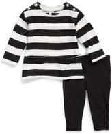 Splendid Infant Girl's Stripe Top & Leggings Set