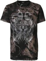 Balmain Tiger Print T-shirt - Black - Size XXL
