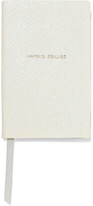 Smythson Jingle Belles Textured-leather Notebook