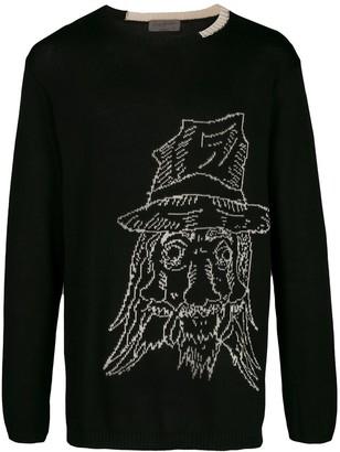 Yohji Yamamoto knitted face jumper
