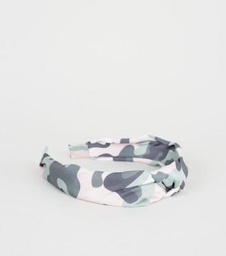 New Look Girls Camo Knot Headband