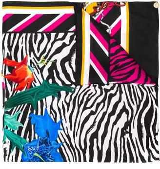 Class Roberto Cavalli zebra floral print scarf