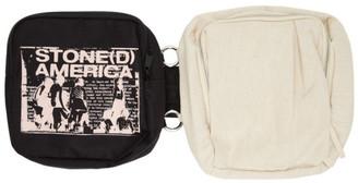 Raf Simons SSENSE Exclusive Black and Beige Eastpak Edition America Messenger Bag