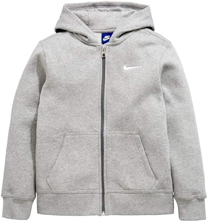 Nike Sportswear Older Boys Full Zip Hoodie - Grey