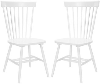 One Kings Lane Set of 2 Abigail Side Chairs - White