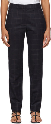 6397 Navy Windowpane Trousers