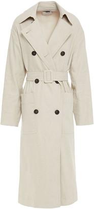 Vince Linen-blend Trench Coat