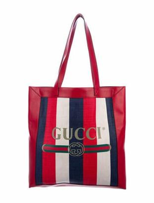 Gucci 2018 Sylvie Stripe Tote w/ Tags multicolor