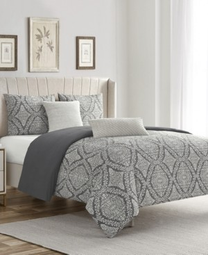 Waterford Zoey Cotton Chenille King/California King 5 Piece Comforter Set Bedding