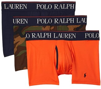 Polo Ralph Lauren P3 4D-Flex Cooling Microfiber Trunks (Cruise Navy/Surplus Camo/Active Orange) Men's Underwear