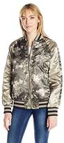 Members Only Women's Floral Blossom Souvineer Varsity Jacket