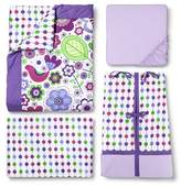 Bacati Crib Bedding Set - 10pc - Purple Botanicals