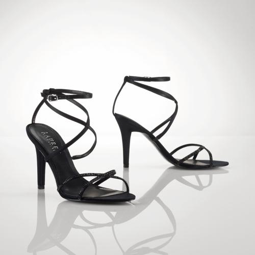 Ralph Lauren Amina Satin-Crystal Sandal