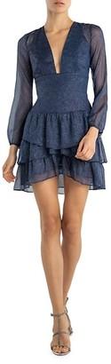 Sau Lee Sparkle-Print Mini Dress