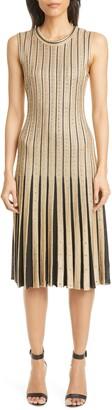 St. John Cable Stripe Knit Dress