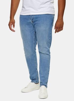 Topman BIG & TALL Light Wash Stretch Skinny Jeans*