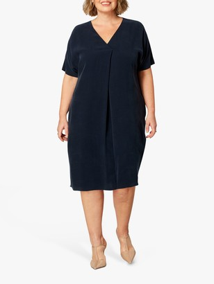 Live Unlimited Curve Amara Cocoon Dress, Navy