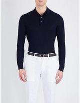 Ralph Lauren Purple Label Long-sleeved Wool Polo Jumper