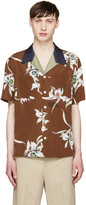 Valentino Brown Floral Shirt