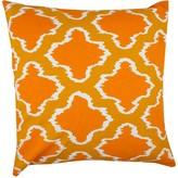 """Entryways Orange Ikat Throw Pillow - 20""""x20"""""""