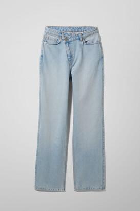 Weekday Skew High Crossover Jeans - Blue