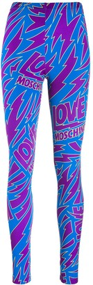 Love Moschino Lightning Bolt Leggings
