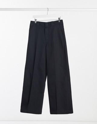 Dickies Winnsboro wide leg pant in black
