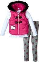 Hello Kitty Puffer Vest Set (Toddler/Kid) - Fuchsia Purple - 3T
