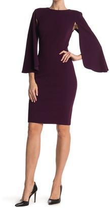 Calvin Klein Caplet Sleeve Sheath Dress