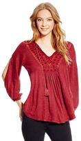 Jessica Simpson Women's 'Frida' Embroidered Peasant Top