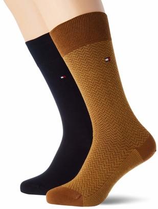 Tommy Hilfiger Men's Th Sock 2p Micro Herringbone