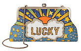 Sarah's Bag Lucky Blue Clutch