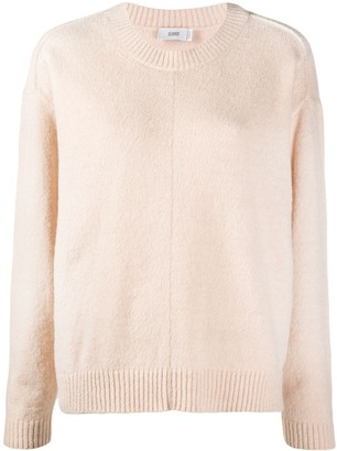 Closed Long-Sleeved Knitted Jumper