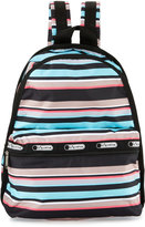 Le Sport Sac Basic Striped Backpack, Tennis Stripe