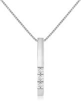 Forzieri 0.03 ct Diamond Bar Pendant Necklace