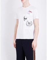 Alexander Mcqueen Patch-print Organic Cotton T-shirt