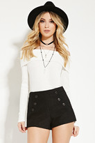 Forever 21 Buttoned Boucle Shorts