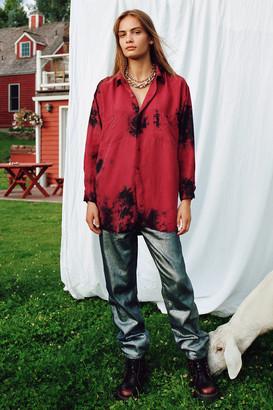 BDG High-Waisted Relaxed Straight Jean Metallic Denim