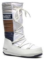 Moon Boot Women's We Quilted Lace-up Ankle Boots in White