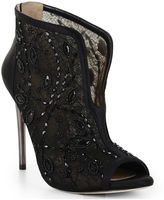 BCBGMAXAZRIA Deedie Peep-Toe Lace Dress Bootie