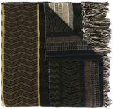 Etro jacquard fringed scarf