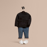 Burberry Equestrian Knight Detail Cotton Sweatshirt