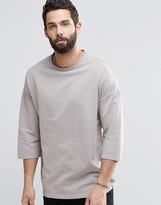 ONLY & SONS Sweatshirt With 3/4 Length Sleeves