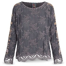 Johnny Was Lace Trim Paulina Blouse