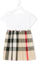 Burberry check skirt dress - kids - Cotton - 4 yrs