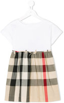 Burberry check skirt dress